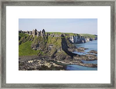 Ruins On Coastal Cliff Framed Print by Patrick Swan