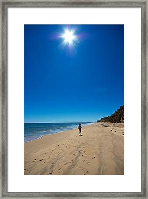 Run On The Beach Framed Print by Mike Horvath