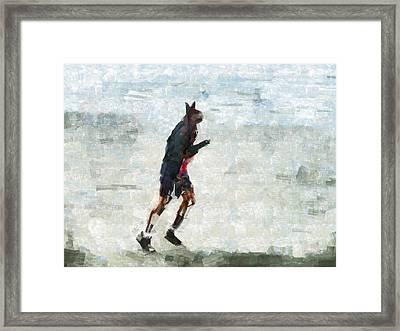 Run Rabbit Run Framed Print by Steve Taylor