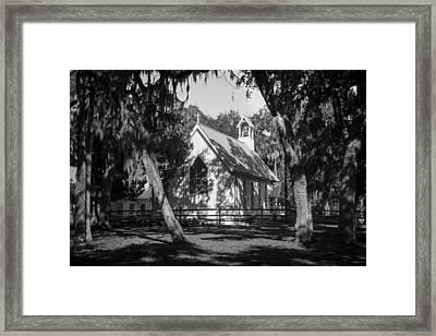 Rural Congregation Framed Print by Lynn Palmer