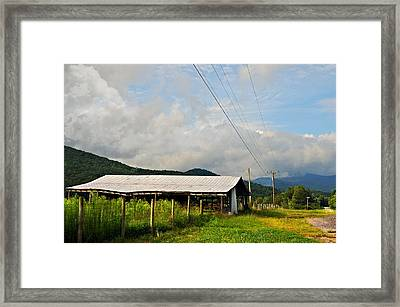 Rural Highways And Biways Framed Print by Susan Leggett