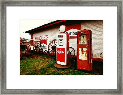 Rural Roadside Antiques Framed Print by Toni Hopper