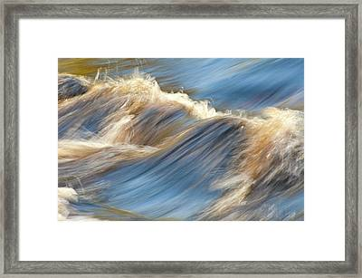 Rushing Waters Framed Print by Carolyn Marshall