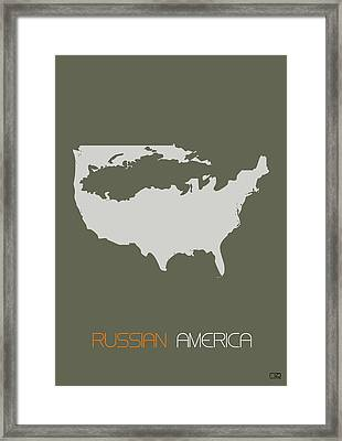 Russian America Poster Framed Print by Naxart Studio