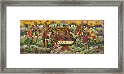 Russian Icon: Dice Players Framed Print by Granger