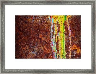 Rust Background Framed Print by Carlos Caetano