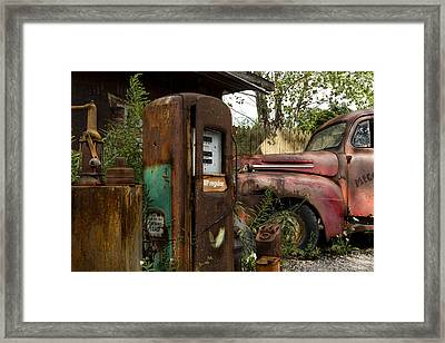 Rust Never Sleeps Framed Print by Peter Chilelli