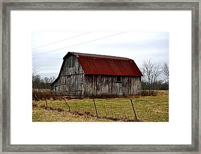 Rustic Barn 2 Framed Print by Marty Koch