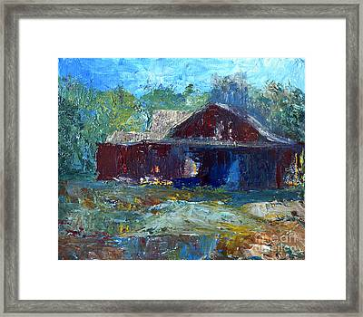 Rustic Barn Framed Print by Claire Bull