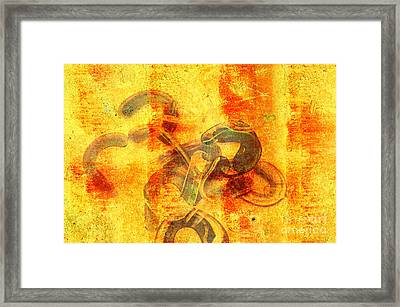 Rustic Gold Framed Print by Andee Design