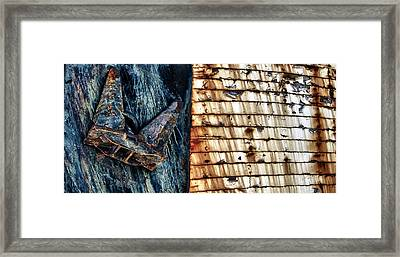 Rusting Boat Anchor Framed Print by Stelios Kleanthous