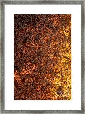 Rusty Background Framed Print by Carlos Caetano