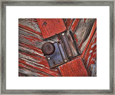 Rusty Dusty And Musty Framed Print by Kathy Clark