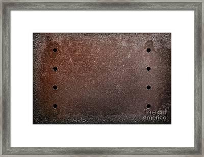 Rusty Iron Framed Print by Carlos Caetano