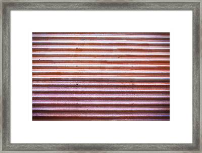 Rusty Metal Framed Print by Tom Gowanlock