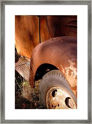 Rusty Mudguard Framed Print by Carla Parris