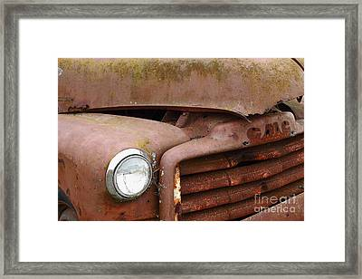 Rusty Old Gmc Truck . 7d8403 Framed Print by Wingsdomain Art and Photography