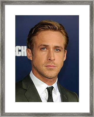 Ryan Gosling At Arrivals For The Ides Framed Print by Everett