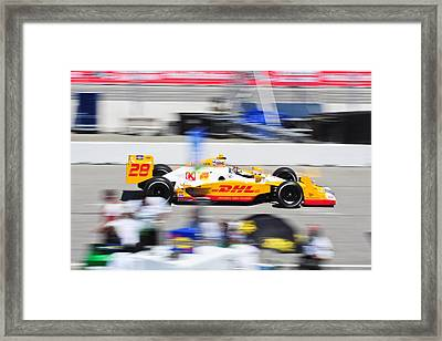 Ryan Hunter-reay Exiting Pit  Road Framed Print by Jarvis Chau