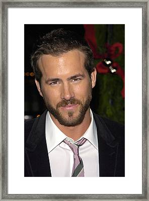 Ryan Reynolds At Arrivals For Just Framed Print by Everett