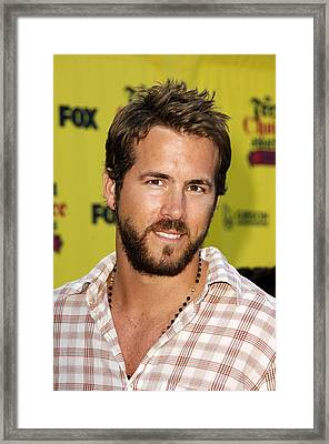 Ryan Reynolds At Arrivals For The 2005 Framed Print by Everett