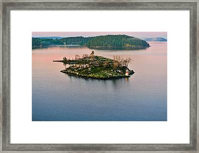 Ryssmasterna Lighthouse Sweden Framed Print by Marianne Campolongo