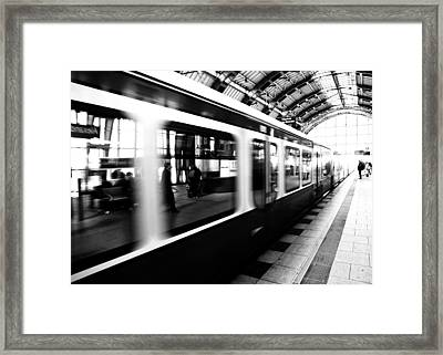 S-bahn Berlin Framed Print by Falko Follert