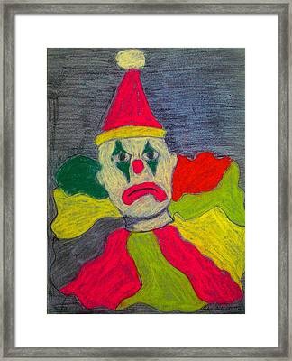 Sad Clown Framed Print by Robyn Louisell