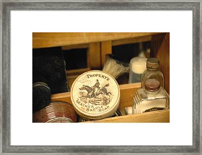 Saddle Soap Framed Print by Liezel Rubin