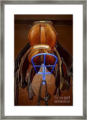 Saddles Framed Print by Elena Elisseeva