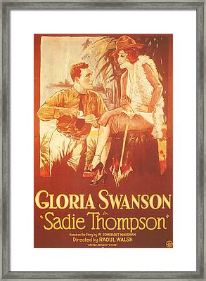 Sadie Thompson Framed Print by Georgia Fowler