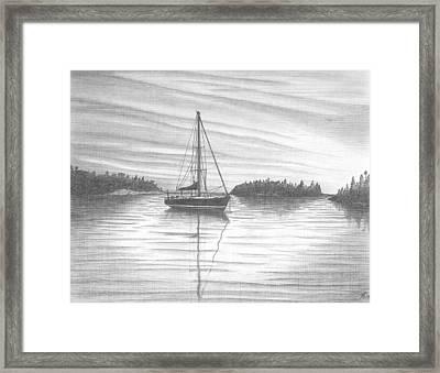 Safe Harbor Framed Print by Peter Griffen