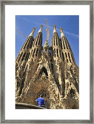 Sagrada Familia Barcelona Spain Framed Print by Matthias Hauser