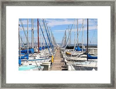 Sail Boats At San Francisco China Basin Pier 42 . 7d7692 Framed Print by Wingsdomain Art and Photography