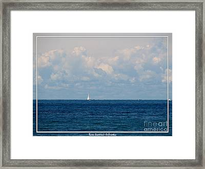 Sailboat On Lake Ontario Framed Print by Rose Santuci-Sofranko