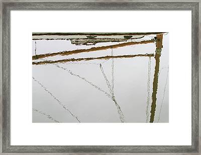 Sailboat Reflect Framed Print by Karol Livote