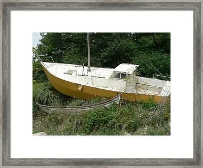 Sailboat Shipwrecked Framed Print by Amanda Lenard