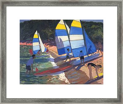 Sailboats South Of France Framed Print by Andrew Macara