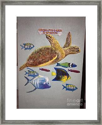 Sailfish Splash Park Mural 10 Framed Print by Carey Chen