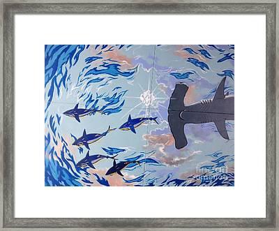 Sailfish Splash Park Mural 8 Framed Print by Carey Chen