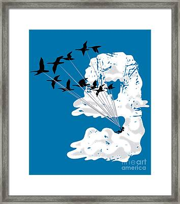 Sailing Cloud Nine Framed Print by Laura Brightwood