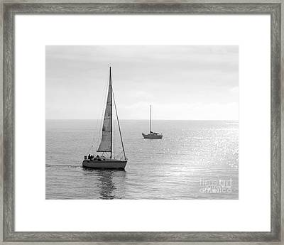 Sailing In Calm Waters Framed Print by Artist and Photographer Laura Wrede
