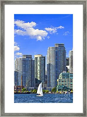 Sailing In Toronto Harbor Framed Print by Elena Elisseeva