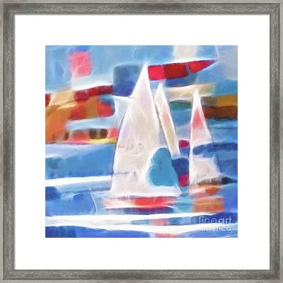 Sailing Joy Digital Framed Print by Lutz Baar