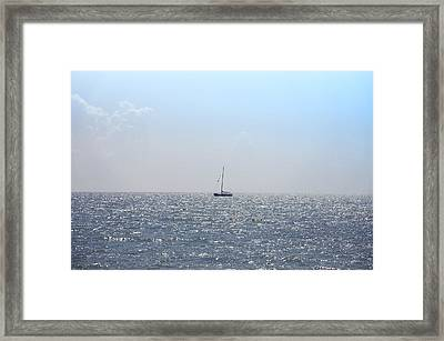 Sailing On Framed Print by Bill Cannon