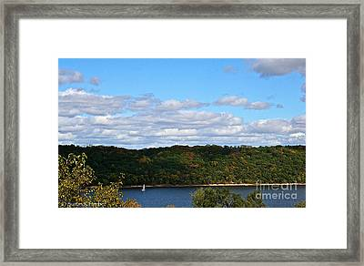 Sailing Summer Away Framed Print by Susan Herber