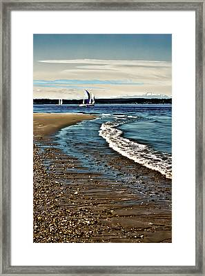 Sailing The Puget Sound Framed Print by David Patterson