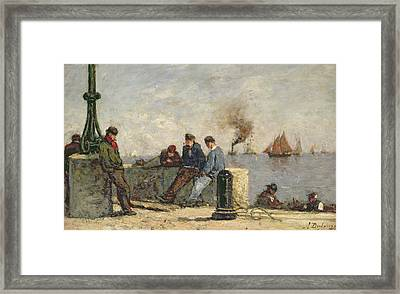 Sailors Framed Print by Louis Alexandre Dubourg