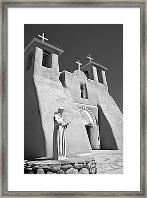 Saint Francisco De Asis Mission Framed Print by Melany Sarafis