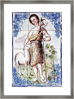 Saint John Framed Print by Gaspar Avila